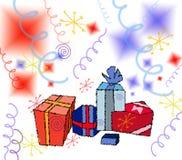Illustration-Cadeaux Photographie stock libre de droits