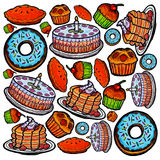 Cakes Pattern Stock Images
