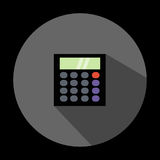 Illustration is a calculator icon. Can be used for media. Royalty Free Stock Photo