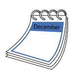 Illustration of the calender month December Royalty Free Stock Photo