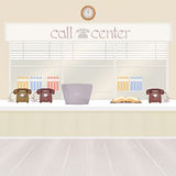 Illustration of call center Royalty Free Stock Image