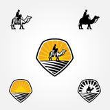 Illustration of camel badge design Stock Photos