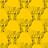 Illustration. Camel in the peas. Sketch seamless pattern. Stock Photos