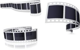 Camera Film Roll Set Royalty Free Stock Photo