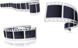 Camera Film Roll Set. Illustration Of Camera Film Roll Set on White Royalty Free Stock Photo