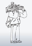 Illustration of camera man Stock Images