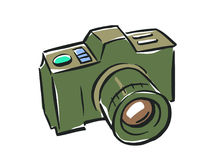 Illustration of a camera on a white background. Royalty Free Stock Photography