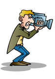 Illustration of a cameraman Stock Image