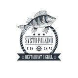 Illustration can be used as Logo or Icon in premium quality. Vector Sea Food sign restaurant and grill. llustration can be used as Logo or Icon in premium Stock Image