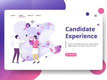 Illustration. Candidate Experience Modern Illustration, the concept of Head Hunting, can be used for landing pages, web, UI, banners, templates, backgrounds royalty free illustration