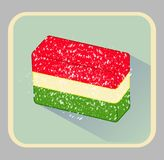 Celebratory card , Icon candied fruit jelly , cheerful Illustration stock illustration