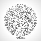 Illustration of  candies set Royalty Free Stock Images