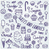 Illustration of  candies set on white background Royalty Free Stock Photo