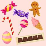 Illustration of candies set Royalty Free Stock Image