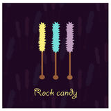 Illustration with candy rocks Royalty Free Stock Photo