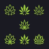 Cannabis as a collection royalty free illustration