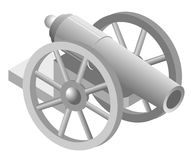 Illustration of cannon Royalty Free Stock Photos
