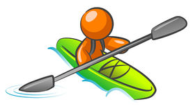 Illustration of canoeist Royalty Free Stock Images