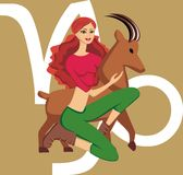 Illustration Capricorn girl Royalty Free Stock Images