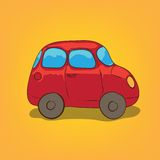 Illustration of a Car. Vector hand drawn Illustration of a Car Royalty Free Stock Image