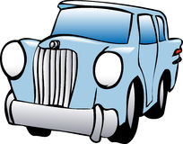 Illustration of car. Illustration of funny car, cartoon style Stock Image