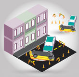Illustration of car accident concept Royalty Free Stock Image