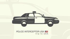 Illustration of a car police interceptor Stock Image