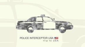 Illustration of a car police interceptor Stock Images