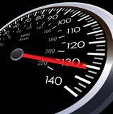 Illustration of car speed meter Stock Images