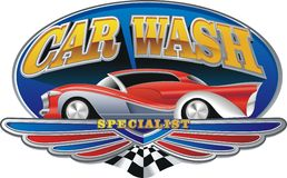 Car wash. An illustration of car wash emblem royalty free illustration
