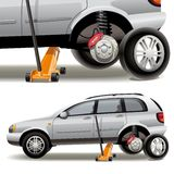 Tire repairs Royalty Free Stock Images
