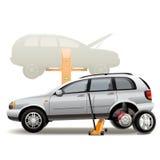 Tire repairs Stock Photos