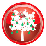 12 Days of Christmas. Illustration Card of the 12 days of Christmas buttons Stock Illustration