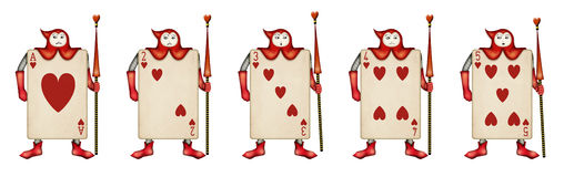 Illustration of Card soldiers Read Hearts from Ali Stock Photos