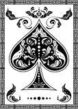The spades ace Royalty Free Stock Photo