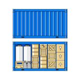 Illustration of cargo container Royalty Free Stock Photos