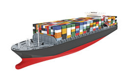 Illustration of a cargo ship Royalty Free Stock Image