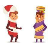 Illustration of carnival costume kid vector. Royalty Free Stock Photo