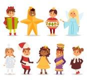 Illustration of carnival costume kids vector. Stock Image