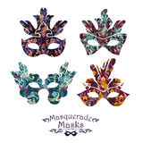 Illustration of carnival mask Royalty Free Stock Photo