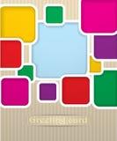 Illustration carrée de carte postale Photographie stock