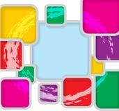 Illustration carrée de carte postale d'amusement Images stock