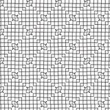Illustration carrée géométrique abstraite de fond de Mesh Lines Vector Seamless Pattern de cube illustration libre de droits