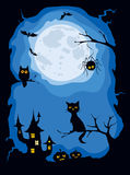 Illustration -- carte de Halloween Photo libre de droits