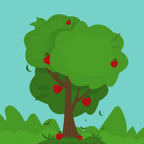 Illustration of cartoon abstract tree. Vector Stock Images