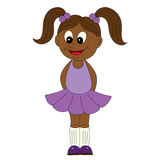 Illustration of a cartoon african girl Royalty Free Stock Images