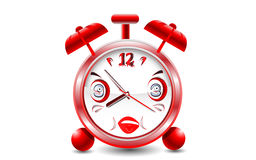 Illustration of Cartoon alarm clock Royalty Free Stock Photos