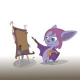 illustration of Cartoon bat Royalty Free Stock Photo