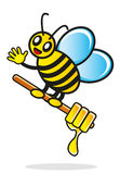Illustration of cartoon bee Royalty Free Stock Photos