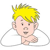 Cartoon blonde boy Royalty Free Stock Photos